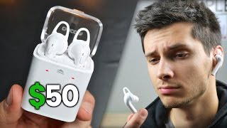 getlinkyoutube.com-$50 AirPods Clone - How Bad Can They Be?