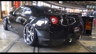 getlinkyoutube.com-【オートトレンド2014】 GTR シャコタン 車高短 Lowered Lowcar