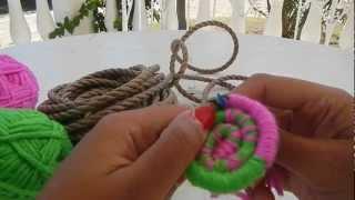 getlinkyoutube.com-Indian basket weaving part 1 starting the base @catrionaakacat