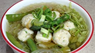 getlinkyoutube.com-Fish Ball Soup Bee Hoon Video Recipe cheekyricho