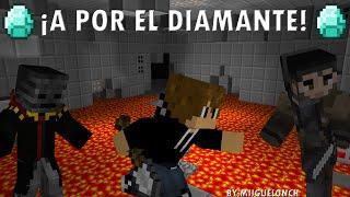 ¡A por el diamante! | Luzu, Gona y Elrich | Animación minecraft