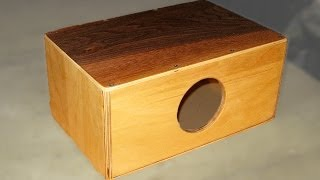 getlinkyoutube.com-How to make a Mini Cajon - Cajonito // DIY // How-To