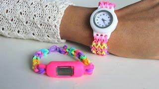 getlinkyoutube.com-كيف تصنع إسوارة على شكل ساعة بالمطاط :أساور المطاط