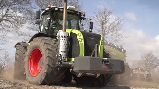 getlinkyoutube.com-Big Machines: Claas Xerion 5000 Traktor with Vogelsang XTill
