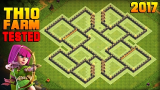 getlinkyoutube.com-Clash of Clans | TH10 Farming Base 2017 | TESTED IN CHAMPION LEAGUE! | BEST Town Hall 10 Hybrid Base