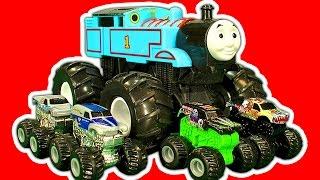 getlinkyoutube.com-Hot Wheels Mighty Mini's Micro Chargers & Thomas The Tank Monster Truck Custom