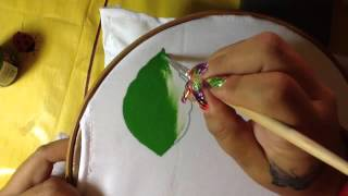 getlinkyoutube.com-1- Pintura en tela hoja con cony
