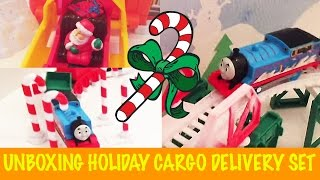 getlinkyoutube.com-Unboxing Thomas & Friends Trackmaster Holiday Cargo Delivery Set