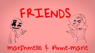 Marshmello-Anne-Marie-FRIENDS-Lyric-Video-OFFICIAL-FRIENDZONE-ANTHEM width=