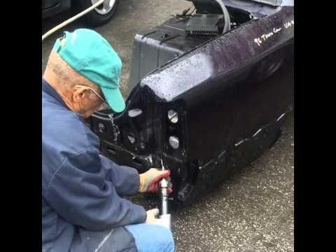 Mr Robert cutting quarter panel out