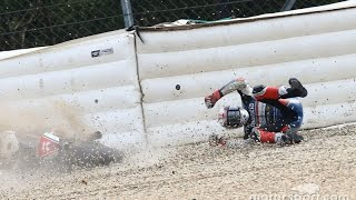 getlinkyoutube.com-MOTOGP 2016 Czech GP (Brno) All Crashes Compilation #11