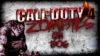 getlinkyoutube.com-Cod 4 Mods: Outlaw Chaos Zombies on Bog Insane Killstreak! Live Commentary/Gameplay