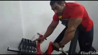 getlinkyoutube.com-sangram chougule training back with t bar rows and revealing secret of his huge back