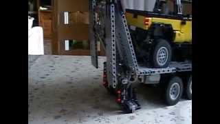 "getlinkyoutube.com-Lego 8110 Unimog U400 mit Anhänger und ""Jeep Pickup by Madoca1977"""