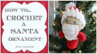 getlinkyoutube.com-How To Crochet A Santa Ornament