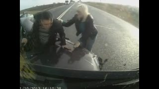 getlinkyoutube.com-Russian Road Rage Compilation February 2013 [18+] 1080P FULL HD II AW
