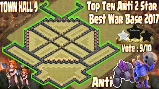 Clash of clans [TOP 3] Th9 best war base 2017. Town Hall 9 new update anti 2 star, All combo