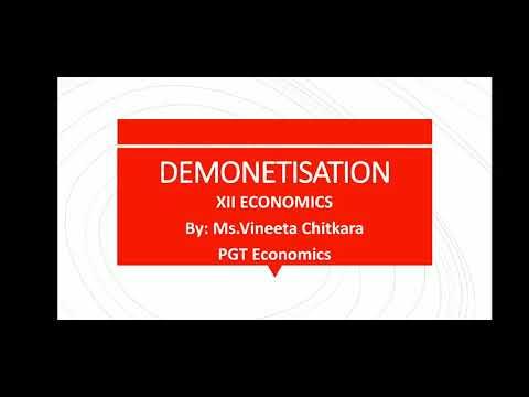 XII Economics Demonetization
