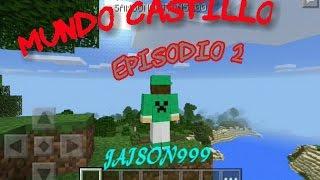 getlinkyoutube.com-Como hacer un castillo en minecraft pocket edition   mundo castillo   episodio 2   la araña troll