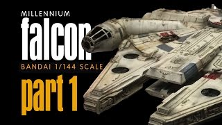 getlinkyoutube.com-PART 1 - MILLENNIUM FALCON Bandai 1:144 Scale Build
