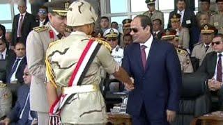 الرئيس السيسي يشهد الاحتفال بتخريج الدفعة 153 من معهد ضباط الصف المعلمين