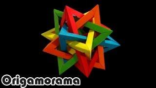 getlinkyoutube.com-Haz un TETRAEDRO INTERSECTADO (5 intersecting tetrahedra)