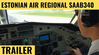 getlinkyoutube.com-Estonian Air Regional SAAB 340 - Cockpit Video - Flightdeck Action - Flights In The Cockpit