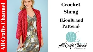 getlinkyoutube.com-How to Crochet Shrug - (Lion Brand Pattern)