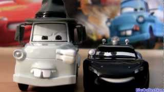 getlinkyoutube.com-Mater Private Eye with BigD CARS TOON Lieutenant Lightning McQueen P.I. Disney Pixar Diecast toys