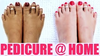 getlinkyoutube.com-Pedicure At Home | SuperPrincessjo