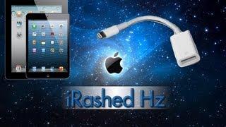 getlinkyoutube.com-وصلة USB للايباد 4 و ميني   USB adapter for iPad 4 & mini