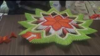 getlinkyoutube.com-Модульное оригами  ( ваза - конфетница)