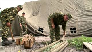 getlinkyoutube.com-Палатка армейская СБОРКА БАПУЗ 40 (УСБ-56)