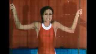 Erin Gray Goes into the Dunk Tank at the Battle of the Network Stars