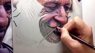 getlinkyoutube.com-Tribal Elder Speed Drawing in Coloured pencil