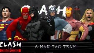 getlinkyoutube.com-WWE 12 | Avengers vs Justice League