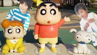 getlinkyoutube.com-クレヨンしんちゃん 春日部 エンゼル・ドーム に行きました♪ そうちゃん☆おとちゃん Crayon Shinchan in Kasukabe for Kids Family Fun