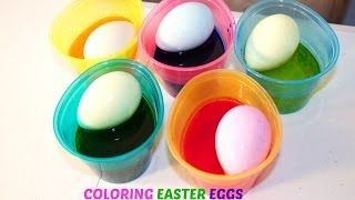 Coloring Easter Eggs with Sofia the First and Hello Kitty Stickers  B2cutecupcakes