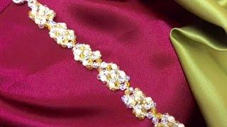 getlinkyoutube.com-Como hacer Pulsera con Tupis y Perlas SWAROVSKI-Swarovski Pearl Bracelet