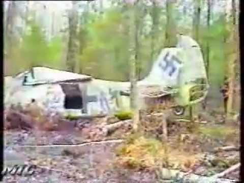 В лесу  найден самолет Фокке-Вульф 190