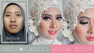 Tutorial Makeup dan Hijabstyle Akad Nikah | Wedding Muslim Modern by IniVindy