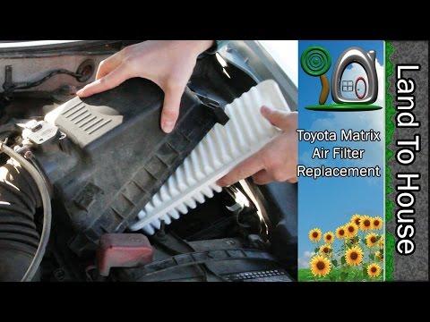 Toyota Matrix Air Filter Replacement