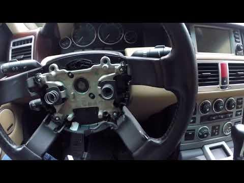 Как снять руль на Рейндж Ровер Спорт, How to remove the steering wheel on the Range Rover