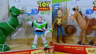 Toy Story Juguetes de Andy Woody con Bullseye y Buzz Lightyear con Rex - Juguetes de Disney