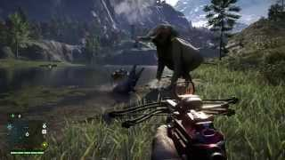 getlinkyoutube.com-Far Cry 4 Crocodile VS Elephant