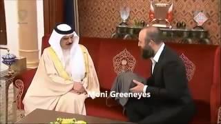 ملك البحرين يستقبل ممثلين مسلسل حريم السلطان