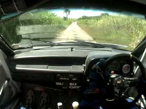 Rally Barbados Stage 1 Pickerings crash (Jeremy Gonsalves)