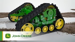 The new John Deere T-Series combines: Traction Control Animation