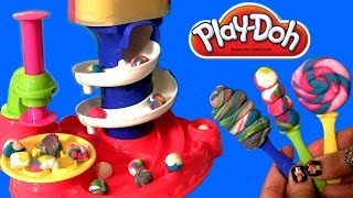 getlinkyoutube.com-Play Doh Candy Cyclone Playset Sweet Shoppe Make Gumballs Candies Lollipops Gumball Machine Clay
