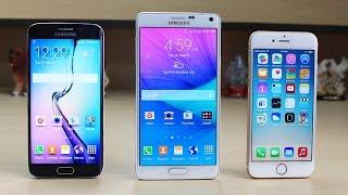 getlinkyoutube.com-Samsung Galaxy S6 Edge vs iPhone 6 vs Note 4 Speed Test
